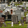 Gravestones are pictured in the historic Fairview Cemetery in New Albany on Thursday afternoon. Staff photo by Christopher Fryer