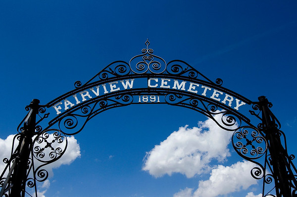 The entranceway to the historic Fairview Cemetery is pictured off of Culbertson Avenue in New Albany on Thursday afternoon. Staff photo by Christopher Fryer