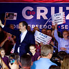 Presidential candidate Ted Cruz greets supporters prior to a speech at Huber's Orchard and Winery in Starlight on Monday ahead of Indiana's primary election next Tuesday. Staff photo by Christopher Fryer