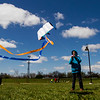 Webelos Scout Carter Wright, 11, New Albany, flies a kite at an outdoor station during a scouting open house at Silver Street Park in New Albany on Saturday afternoon. Staff photo by Christopher Fryer
