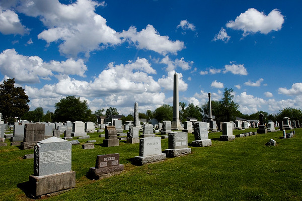 Gravestones are pictured on the east side of the historic Fairview Cemetery in New Albany on Thursday afternoon. The cemetery turns 175 years old this year, and The Friends of Fairview are holding a celebration Saturday afternoon starting at 12 p.m. Staff photo by Christopher Fryer