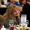 Indiana Superintendent of Public Instruction Glenda Ritz looks on as former Ind. Gov. and U.S. Sen. Evan Bayh speaks during the Floyd County Democratic Party 2016 Jefferson-Jackson Dinner in downtown New Albany on Thursday evening. Staff photo by Christopher Fryer