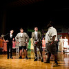 """Scribner Middle School students act out a scene in """"The Music Man Junior"""" during a dress rehearsal Tuesday evening. The musical runs Fri., April 29 through Sat., April 30 with shows at 7 p.m. both nights. Student tickets are $5 and adults are $10. Staff photo by Christopher Fryer"""