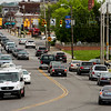 Traffic moves through the intersection of 10th and Spring streets in Jeffersonville on Tuesday afternoon. High volume intersections in the area are expected to see increased traffic with upcoming closures and route changes related to Thunder Over Louisville. Staff photo by Christopher Fryer