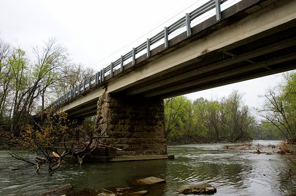 The Blackiston Mill Road bridge that spans Silver Creek is pictured in New Albany on Monday afternoon. Major repairs on the bridge are planned to start in 2017. Staff photo by Christopher Fryer