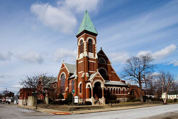 St. John Presbyterian Church is pictured at the corner of Elm and 13th streets in New Albany on Wednesday afternoon. The church is celebrating its 200th anniversary this weekend. Staff photo by Christopher Fryer