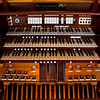 The console of the Horace Wesley Cutler Memorial Pipe Organ is pictured in the sanctuary at Trinity United Methodist Church in New Albany. Staff photo by Christopher Fryer