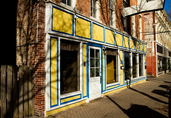 The former location of Louis Le Francais is pictured at 133 E. Market St. in downtown New Albany on Thursday afternoon. The french restaurant closed late last year, and Adrienne and Co. Bakery Café will be opening a third location in the building in March. Staff photo by Christopher Fryer