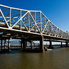 The John F. Kennedy Memorial Bridge is pictured above the Ohio River on Thursday afternoon following a press conference held to announce the full closure of the bridge for structual improvements next Tuesday. Staff photo by Christopher Fryer
