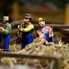 Figurines are pictured in the Fishing and Harvest Diorama following an opening ceremony for The Yenawine Dioramas at the New Albany-Floyd County Public Library in downtown New Albany on Thursday evening. Staff photo by Christopher Fryer