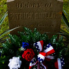 A memorial wreath is pictured at the gravesite of Patrick Shields following a 1816 State Constitutional Delegate Memorial Ceremony at Fairview Cemetery in New Albany on Wednesday morning. Shields was one of the 43 early settlers that met in Corydon 200 years ago to establish Indiana's statehood and write the state's first constitution. Staff photo by Christopher Fryer