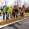 Indiana Department of Transportation and construction crew officials break ground in Sellersburg on a roadway improvement project that will begin this week on a stretch of Interstate 65 that is about eight miles long, and located between Memphis and Sellersburg. Staff photo by Christopher Fryer