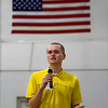 Jeffersonville High School senior Jordan Blackwell, a former Utica Elementary School student with autism, speaks to UES students in the school gymnasium in observance of Indiana's Disability Awareness Month on Monday morning. Staff photo by Christopher Fryer
