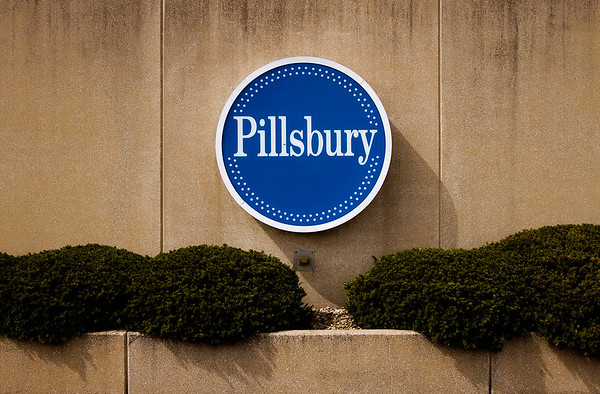 A Pillsbury logo is pictured on the exterior of the General Mills plant in New Albany during a job fair held Monday afternoon to assist employees with new employment opportunities. The company announced ast year that they will close the plant in 2016. Staff photo by Christopher Fryer