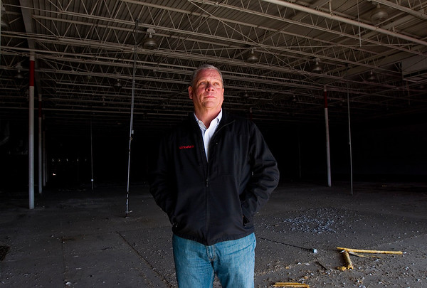 Owner Chris McCarty, Louisville, is pictured inside the former Peddler's Mall, 900 Eastern Blvd., in Clarksville on Wednesday afternoon. McCarty plans to turn the 90,000-square-foot facility into a fulfillment center for a power sports company. Staff photo by Christopher Fryer