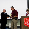 New Albany Firefighter Capt. David Sparks, New Albany, is recognized for her volunteer work during the Salvation Army of Southern Indiana's annual volunteer appreciation luncheon in New Albany on Wednesday. Staff photo by Christopher Fryer
