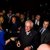 Presidential candidate Bernie Sanders is greeted by supporters as he arrives at The Exchange Pub + Kitchen in downtown New Albany prior to delivering a victory speech on the front steps of the New Albany-Floyd County Public Library after defeating Hillary Clinton in the Indiana Democratic Primary on Tuesday. Staff photo by Christopher Fryer
