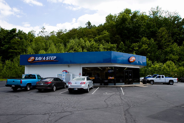 The Sav-A-Step convenience store located at the corner of Scottsville Road and Paoli Pike is pictured in Floyds Knobs on Thursday afternoon. Aaron Keown, Jeffersonville, crashed a stolen truck through the front of the store Thursday morning. Staff photo by Christopher Fryer