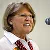 Business Administrator Roxanne Haley speaks during the Salvation Army of Southern Indiana's annual volunteer appreciation luncheon in New Albany on Wednesday. Staff photo by Christopher Fryer