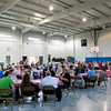 Attendees are pictured in the gymnasium at the Salvation Army of Southern Indiana in New Albany during the organization's annual volunteer appreciation luncheon Wednesday. Staff photo by Christopher Fryer