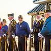 Members of the Charlestown American Legion show our colors before the D*A*S*H 5K run on Saturday. Staff Photo By Josh Hicks