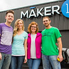Maker 13 founders (left to right), Brian and Lauren Niehoff and Christy and John Riley stand in front of Maker 13, located at 629 Michigan Ave in Jeffersonville. Staff Photo By Josh Hicks