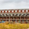 The Charlestown Powder Plant looks glum as it faces demolition. Staff Photo By Josh Hicks