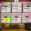 A full supply cart awaits blood donors at the Day of Unity at Park View Middle School on Saturday. The event was sponsored by the Jeffersonville Fraternal Order of Police, Lodge 100, and the Clark County NAACP, in conjunction with the American Red Cross. Staff Photo By Josh Hicks