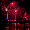 Fireworks explode above the Ohio River during Thunder Over Louisville on Saturday evening. Staff photo by Christopher Fryer