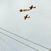 Planes pass over the Lincoln bridge during Thunder on Saturday. Staff Photo By Josh Hicks
