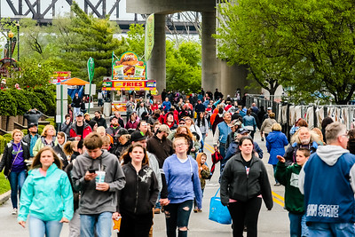 Crowds grew after the rain passed over Thunder on Saturday. Staff Photo By Josh Hicks