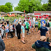 Over 50 people gather at the naming ceremony of the Joshua R. Rodriquez Community Garden at Park Memorial Church in Jeffersonville on Saturday. Staff Photo By Josh Hicks
