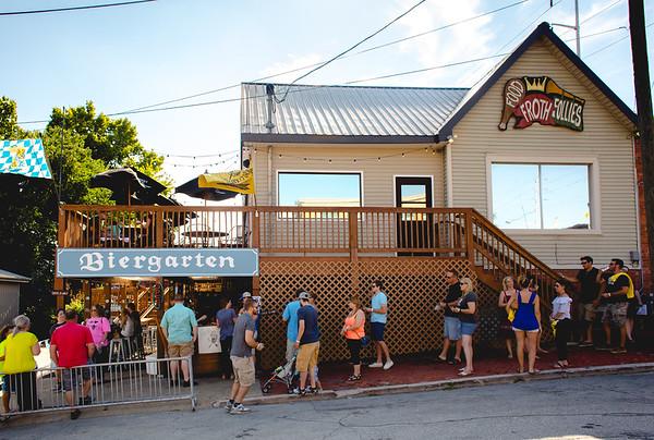 Floyd County Brewing Company had a line since the Taco Walk began.