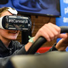 Freshman Kelby Day takes to the wheel of AT&T's Distracted Driving simulation at Jeffersonville High School on Monday. Staff photo by Tyler Stewart