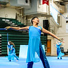 Floyd Central's Andrew Truong flashes a wide smile during the Tri-State color guard competition at Floyd Central High School on Saturday. Staff Photo By Josh Hicks