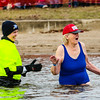 85-year-old Marjorie Cox first plunged when she turned 80 to scratch the event off of her bucket list and has participated every year since. Staff Photo By Josh Hicks