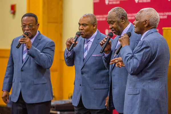 The Spiritual Wonders, of Louisville, Ky, perform several songs during the NAACP Freedom Fund Breakfast at Indiana University Southeast on Saturday. Staff Photo By Josh Hicks