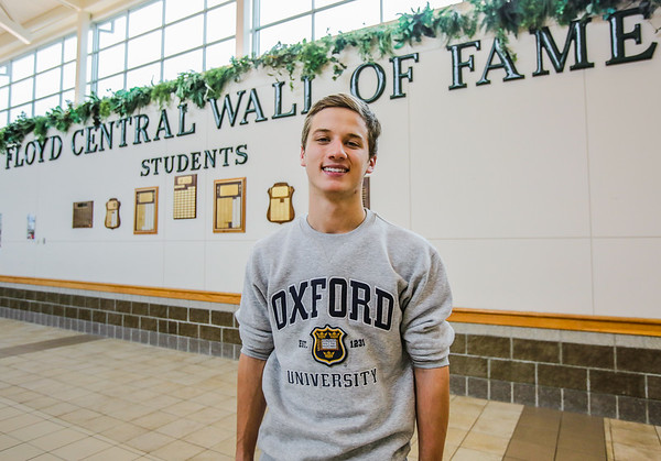 Carson Conley participates in many organizations at Floyd Central High School and will be joining the school's wall of fame. Staff Photo By Josh Hicks