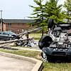 Emergency crews responded to a two-car crash on Greentree Boulevard near Blackiston View Drive. Staff Photos By Josh Hicks