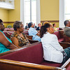 Eager ears turn to the pulpit at Second Baptist during the church's designation ceremony on Wednesday.