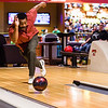 Marvin Taylor celebrates his 64th birthday, bowling a strike on his first frame at Strike and Spare Family Fun Center's grand opening in Clarksville on Friday. Staff Photo By Josh Hicks