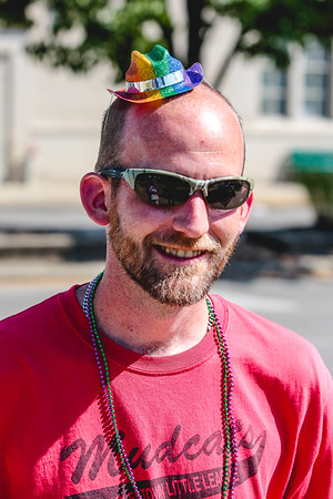 Michael Quire came in from Charlestown for the Jeffersonville Pride Festival in Warder Park on Saturday. Staff Photo By Josh Hicks