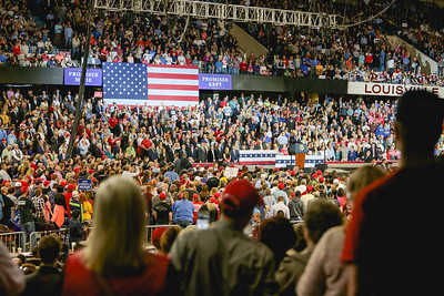 President Donald Trump's rally in Louisville on March 20th, 2017. Staff Photo By Josh Hicks