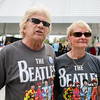 "Huston Rogers, left, and Andrea Smith are ""diehard fans"" of the Beatles. They came in from Pensylvania to attend each day of Abbey Road on the River. Staff Photo By Josh Hicks"