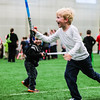Isaac Wiles, 5, runs into battle at May the 4th Be With You on Thursday. Staff Photo By Josh Hicks
