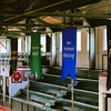 Banners representing 16 sectional teams hang from the Nachand Field House ceiling. Staff Photo By Josh Hicks