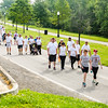 Over 250 participants walk and run through the Stop Addiction Walk in New Albany on Saturday. Staff Photo By Josh Hicks