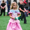 Harper Stone, 4, walks through May the 4th Be With You in a princess-Jedi costume mashup. Staff Photo By Josh Hicks