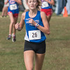 Charlestown's Katie Rhodes finished eighth in the Southwestern sectional championship's held in Hanover on Saturday. Photo by Joe Ullrich