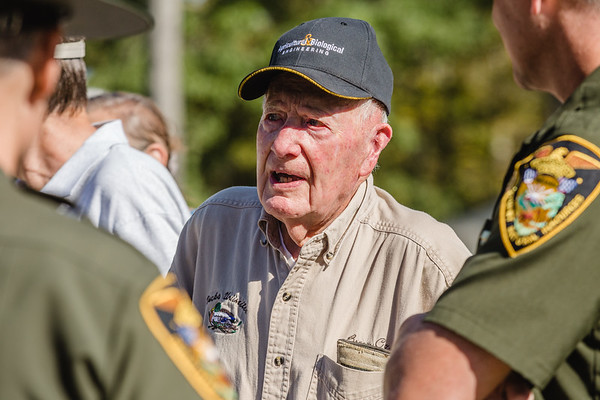 Bob Vollmer, who is 100-years-old, still works full time at the Department of Natural Resources, which recognized him at Saturday's Clark State Forest open house. Vollmer has been working for the DNR since Staff Photo By Josh Hicks